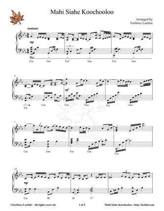 Mahi Siahe Koochooloo Sheet Music