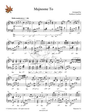 Majnoone To Sheet Music