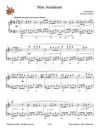 Man Amadeam Sheet Music