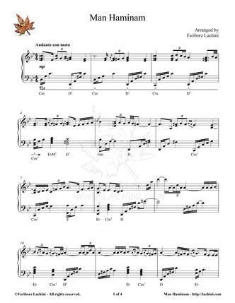 Man Haminam Sheet Music