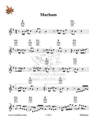 Marham نت آهنگ