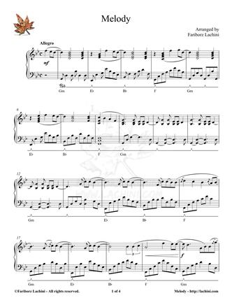 Melody Sheet Music
