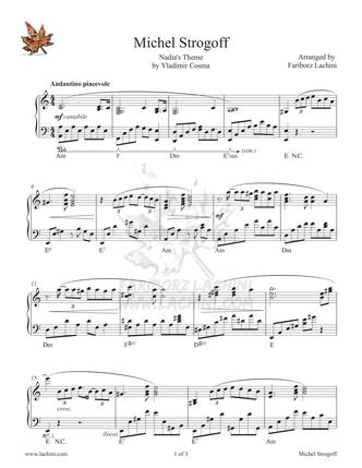 Michel Strogoff Sheet Music