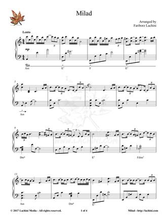Milad Sheet Music