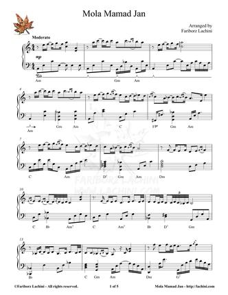 Mola Mamad Jan Sheet Music