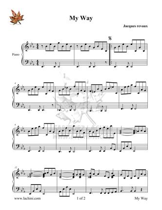 My Way Sheet Music