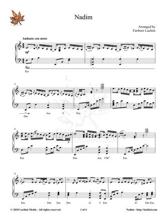 Nadim Sheet Music