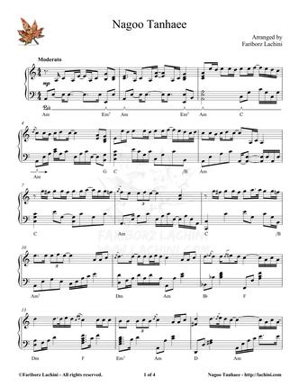 Nagoo Tanhaee Sheet Music