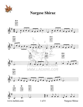 Nargese Shiraz Sheet Music
