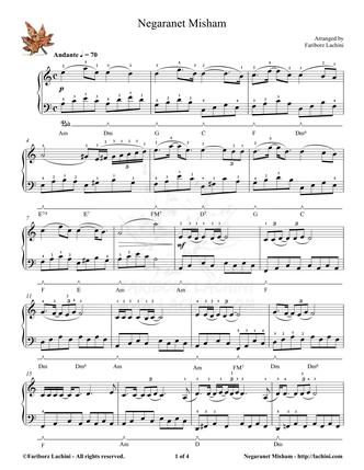Negaranet Misham Sheet Music