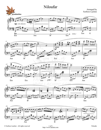 Niloufar Sheet Music