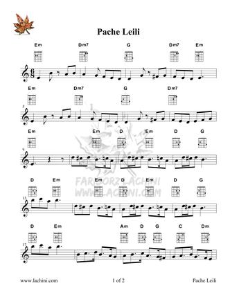 Pache Leili Sheet Music