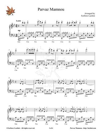 Parvaz Mamnou Sheet Music