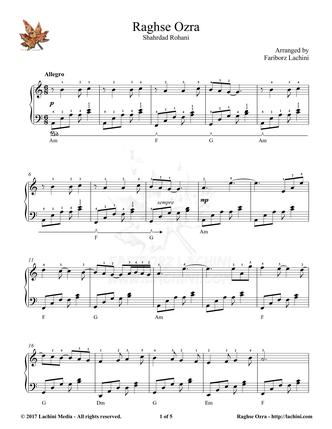 Raghse Ozra Sheet Music