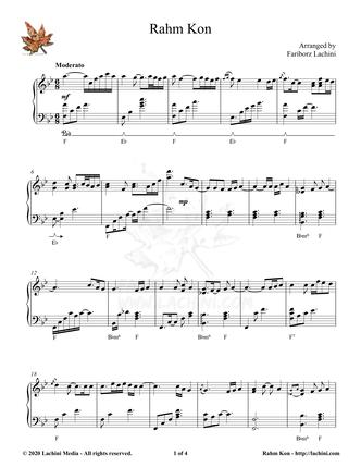 Rahm Kon Sheet Music