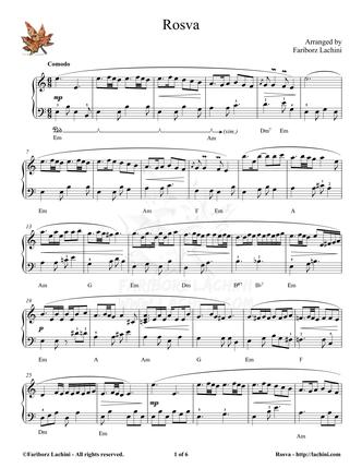 Rosva Sheet Music