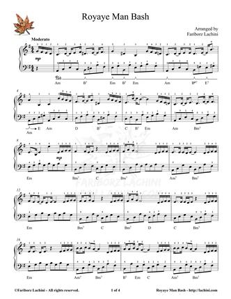 Royaye Man Bash Sheet Music