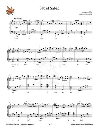 Sabad Sabad Sheet Music