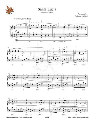 Santa Lucia Sheet Music