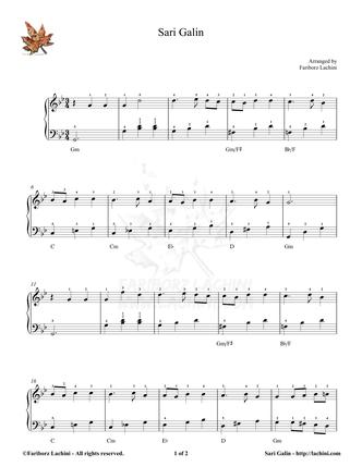 Sari Galin 2 Sheet Music