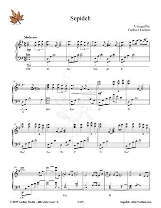 Sepideh Sheet Music