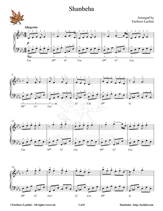 Shanbeha Sheet Music