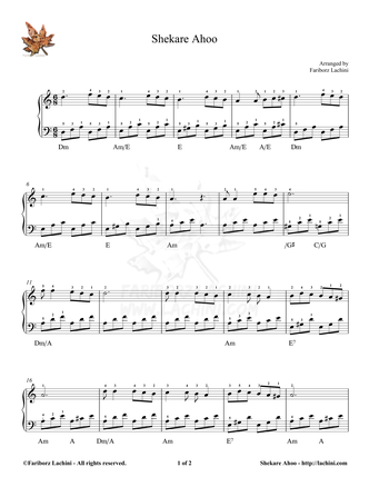 Shekare Ahoo 2 Sheet Music