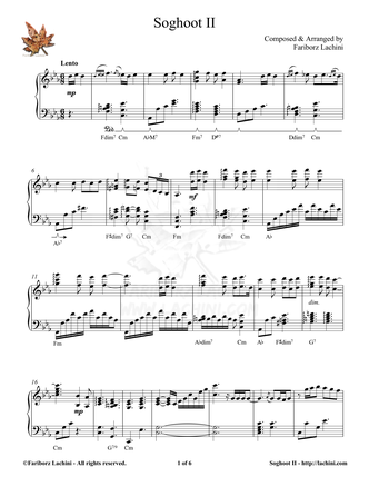 Soghoot II Sheet Music