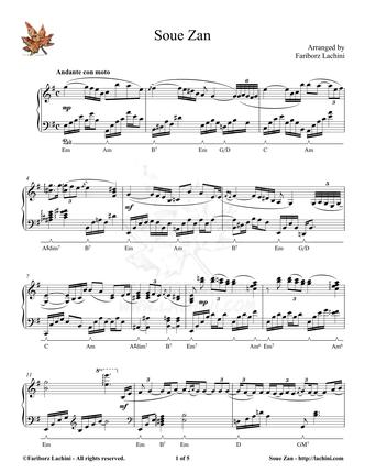 SoueZan Sheet Music