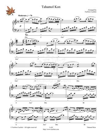 Tahamol Kon Sheet Music