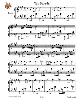 Tak Derakhti Sheet Music