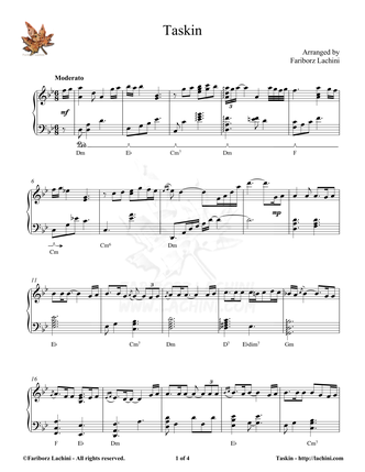 Taskin Sheet Music