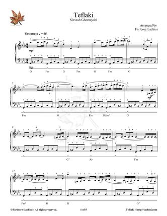 Teflaki Sheet Music