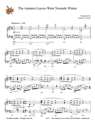 The Autumn Leaves Went Towards Winter Sheet Music