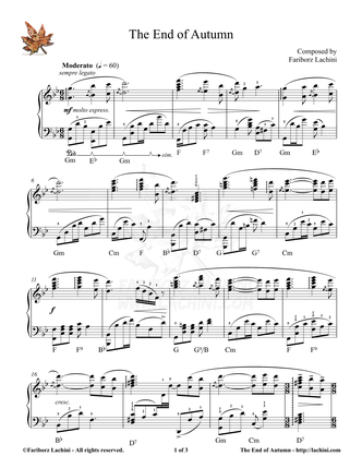 The End of Autumn Sheet Music