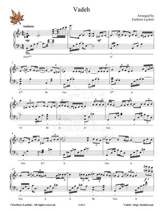 Vadeh Sheet Music