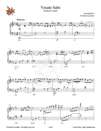 Vosate Sabz Sheet Music