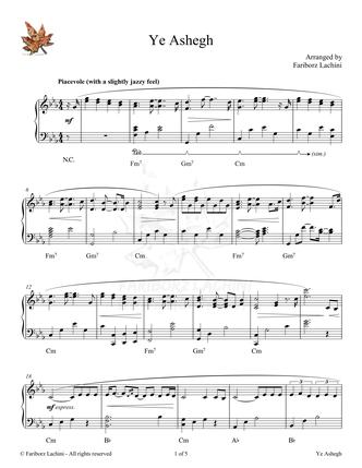 YeAshegh Sheet Music