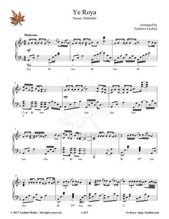 Ye Roya Sheet Music