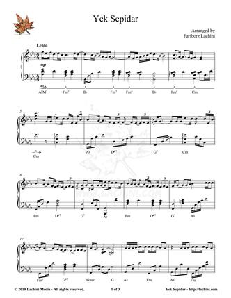 Yek Sepidar Sheet Music