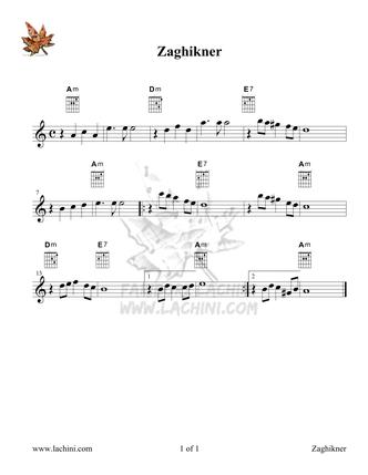Zaghikner Sheet Music