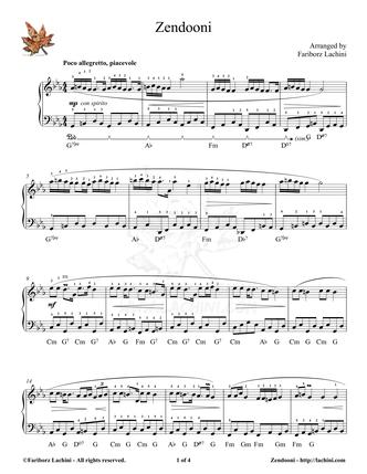 Zendooni Sheet Music