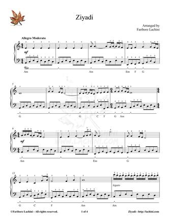 Ziyadi Sheet Music